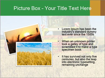 Combine harvester at work PowerPoint Template - Slide 20