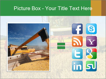 Combine harvester at work PowerPoint Template - Slide 21