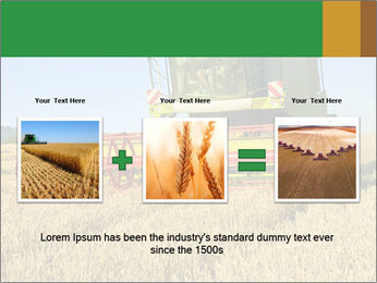 Combine harvester at work PowerPoint Template - Slide 22