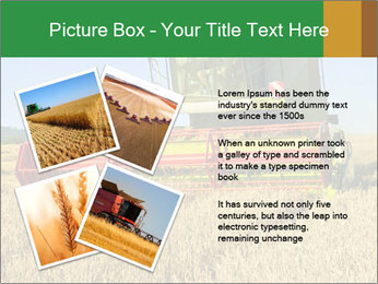 Combine harvester at work PowerPoint Templates - Slide 23