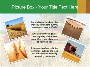 Combine harvester at work PowerPoint Template - Slide 24
