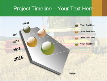 Combine harvester at work PowerPoint Template - Slide 26