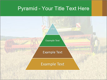 Combine harvester at work PowerPoint Template - Slide 30