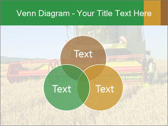 Combine harvester at work PowerPoint Template - Slide 33