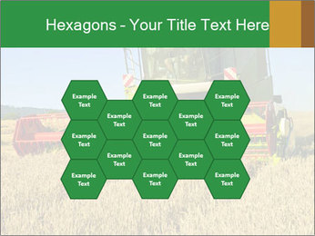 Combine harvester at work PowerPoint Template - Slide 44