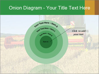 Combine harvester at work PowerPoint Template - Slide 61