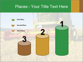 Combine harvester at work PowerPoint Template - Slide 65