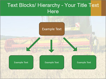 Combine harvester at work PowerPoint Template - Slide 69