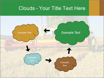Combine harvester at work PowerPoint Template - Slide 72