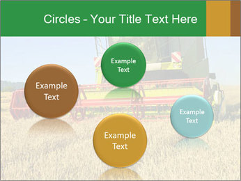 Combine harvester at work PowerPoint Template - Slide 77