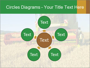 Combine harvester at work PowerPoint Template - Slide 78