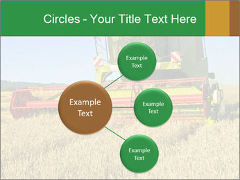 Combine harvester at work PowerPoint Template - Slide 79