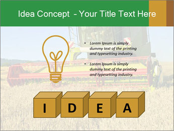 Combine harvester at work PowerPoint Template - Slide 80