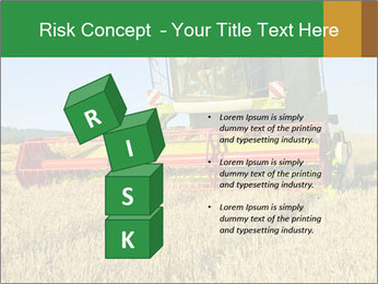 Combine harvester at work PowerPoint Template - Slide 81