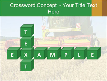 Combine harvester at work PowerPoint Template - Slide 82