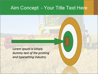 Combine harvester at work PowerPoint Template - Slide 83