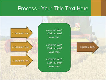 Combine harvester at work PowerPoint Template - Slide 85