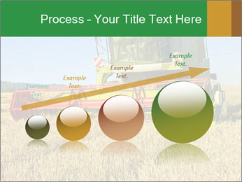 Combine harvester at work PowerPoint Template - Slide 87