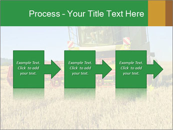 Combine harvester at work PowerPoint Template - Slide 88