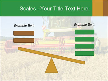 Combine harvester at work PowerPoint Template - Slide 89