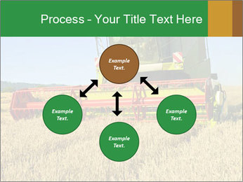 Combine harvester at work PowerPoint Template - Slide 91