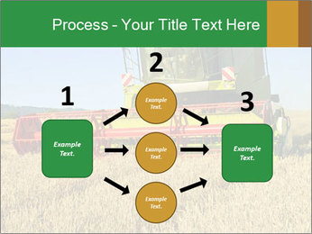 Combine harvester at work PowerPoint Template - Slide 92