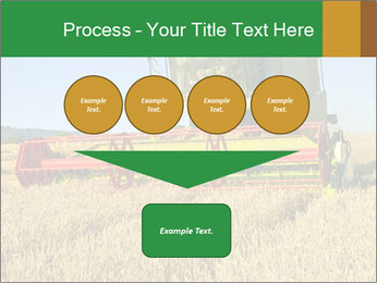 Combine harvester at work PowerPoint Template - Slide 93