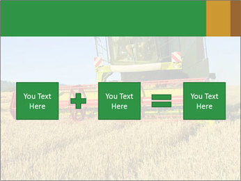 Combine harvester at work PowerPoint Template - Slide 95