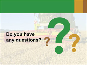 Combine harvester at work PowerPoint Template - Slide 96