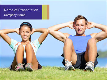 Fitness couple PowerPoint Template - Slide 1