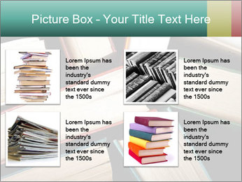 Old and used hardback books PowerPoint Templates - Slide 14