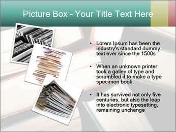 Old and used hardback books PowerPoint Templates - Slide 17