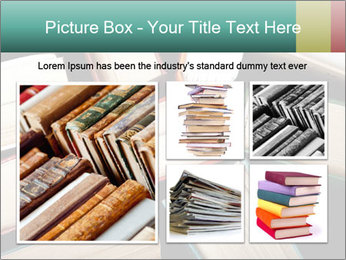 Old and used hardback books PowerPoint Templates - Slide 19