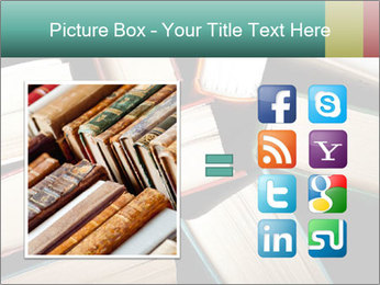 Old and used hardback books PowerPoint Templates - Slide 21
