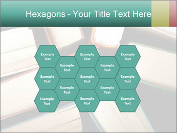 Old and used hardback books PowerPoint Templates - Slide 44