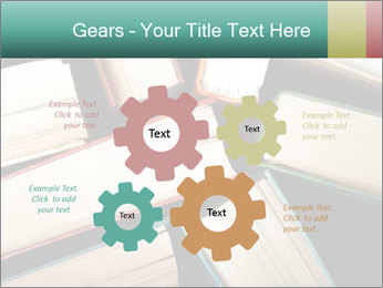 Old and used hardback books PowerPoint Templates - Slide 47