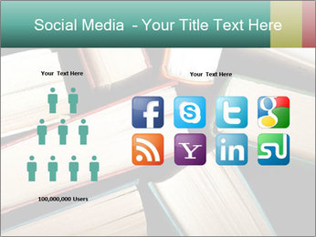 Old and used hardback books PowerPoint Templates - Slide 5
