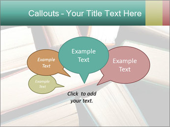 Old and used hardback books PowerPoint Templates - Slide 73