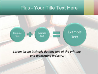 Old and used hardback books PowerPoint Templates - Slide 75