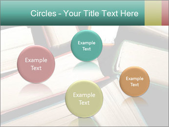 Old and used hardback books PowerPoint Templates - Slide 77