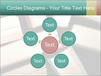Old and used hardback books PowerPoint Templates - Slide 78