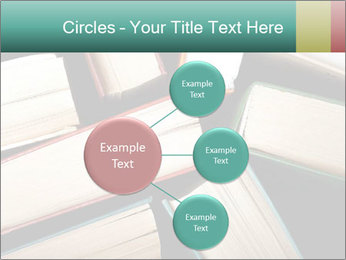 Old and used hardback books PowerPoint Templates - Slide 79