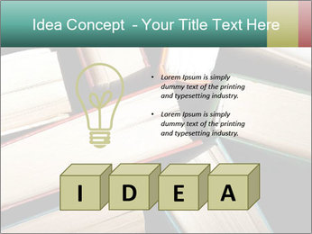 Old and used hardback books PowerPoint Templates - Slide 80