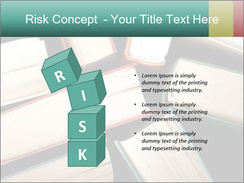 Old and used hardback books PowerPoint Templates - Slide 81