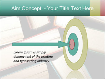 Old and used hardback books PowerPoint Templates - Slide 83