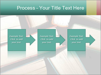 Old and used hardback books PowerPoint Templates - Slide 88