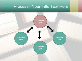 Old and used hardback books PowerPoint Templates - Slide 91