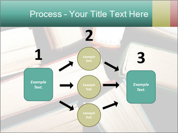 Old and used hardback books PowerPoint Templates - Slide 92