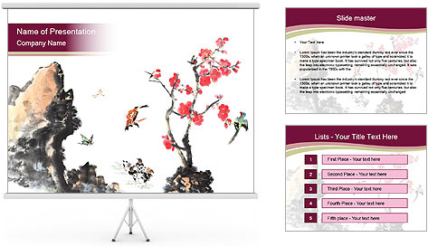 Bird and insects PowerPoint Template