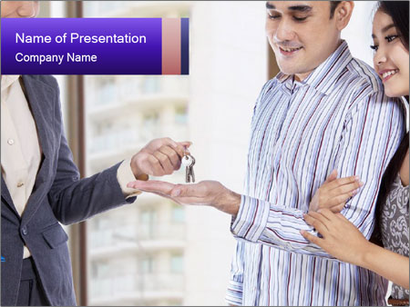 Couple receives a key PowerPoint Template